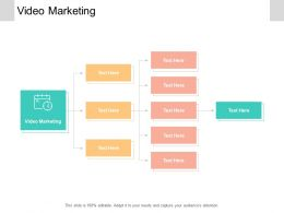 Video Marketing Ppt Powerpoint Presentation Infographics Guide Cpb