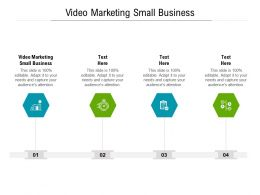 Video Marketing Small Business Ppt Powerpoint Presentation Pictures Objects Cpb