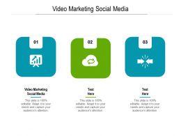 Video Marketing Social Media Ppt Powerpoint Presentation Model Visuals Cpb