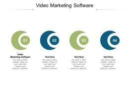 Video Marketing Software Ppt Powerpoint Presentation Slides Visuals Cpb
