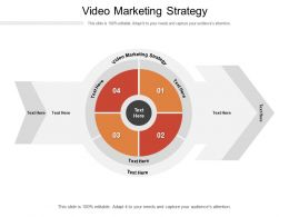 Video Marketing Strategy Ppt Powerpoint Presentation Show Graphics Template Cpb