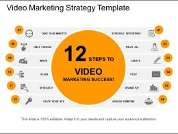 Video Marketing Strategy Template Presentation Portfolio