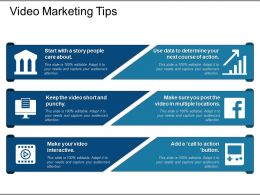 Video Marketing Tips Ppt Templates