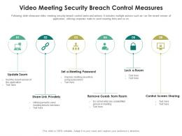 Video Meeting Security Breach Control Measures