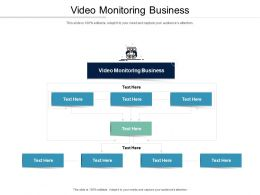 Video Monitoring Business Ppt Powerpoint Presentation Show Infographics Cpb