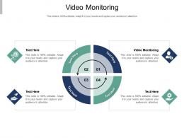 Video Monitoring Ppt Powerpoint Presentation Pictures Visual Aids Cpb