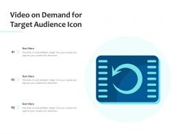 Video On Demand For Target Audience Icon