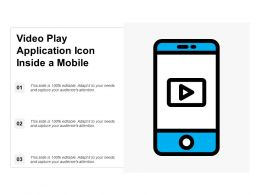 Video Play Application Icon Inside A Mobile