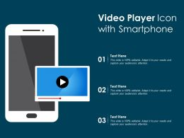 Video Player Icon With Smartphone