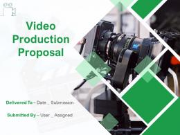 Video Production Proposal Powerpoint Presentation Slides