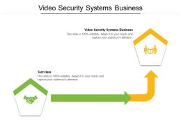 Video Security Systems Business Ppt Powerpoint Presentation Ideas Background Images Cpb