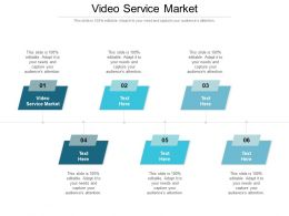Video Service Market Ppt Powerpoint Presentation Layouts Brochure Cpb