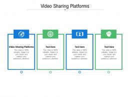 Video Sharing Platforms Ppt Powerpoint Presentation Layouts Aids Cpb