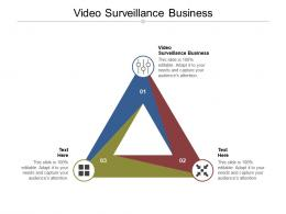 Video Surveillance Business Ppt Powerpoint Presentation Icon Cpb