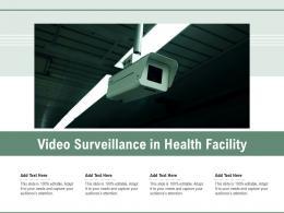 Video Surveillance In Health Facility