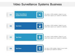 Video Surveillance Systems Business Ppt Powerpoint Presentation Styles Topics Cpb