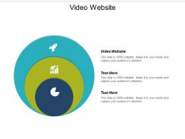 Video Website Ppt Powerpoint Presentation Infographic Template Slides Cpb