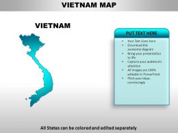 Vietnam Country Powerpoint Maps