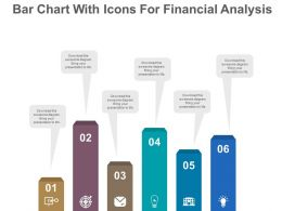 view Bar Chart With Icons For Financial Analysis Flat Powerpoint Design
