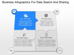 view Business Infographics For Data Search And Sharing Powerpoint Template
