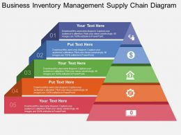 view Business Inventory Management Supply Chain Diagram Flat Powerpoint Design