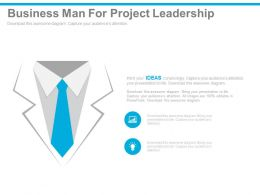 view Business Man For Project Leadership Flat Powerpoint Design