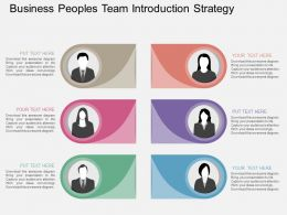view Business Peoples Team Introduction Strategy Flat Powerpoint Design