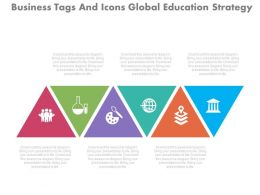 view Business Tags And Icons Global Education Strategy Flat Powerpoint Design