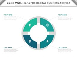 view Circle With Icons For Global Business Agenda Flat Powerpoint Design