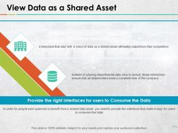 View Data As A Shared Asset Ppt Outline Example Topics