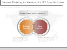 View Database Marketing And Web Analytics Ppt Powerpoint Ideas