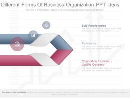 View Different Forms Of Business Organization Ppt Ideas