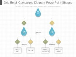 View Drip Email Campaigns Diagram Powerpoint Shapes