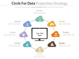 view Eight Staged Circle For Data Protection Strategy Flat Powerpoint Design