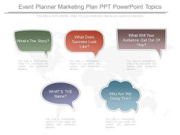 View Event Planner Marketing Plan Ppt Powerpoint Topics