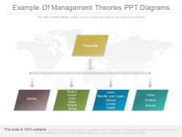View Example Of Management Theories Ppt Diagrams