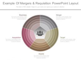 View Example Of Mergers And Requisition Powerpoint Layout