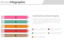 view Five Staged Arrow Infographics For Business Analysis Flat Powerpoint Design