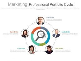 view_five_staged_marketing_professional_portfolio_cycle_flat_powerpoint_design_Slide01