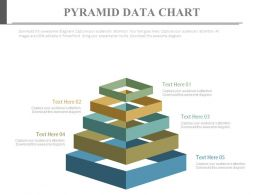 view Five Staged Pyramid Data Chart Diagram Flat Powerpoint Design