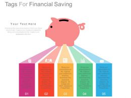 view Five Staged Tags For Financial Saving Flat Powerpoint Design