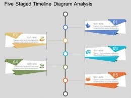 view Five Staged Timeline Diagram Analysis Flat Powerpoint Design