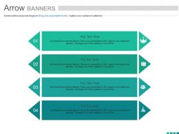 view Four Arrow Banners For Team Management Flat Powerpoint Design