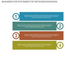 view Four Banners For Statement Of Retained Earnings Flat Powerpoint Design