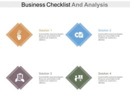 view Four Staged Business Checklist And Analysis Flat Powerpoint Design