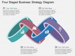 view Four Staged Business Strategy Diagram Flat Powerpoint Design