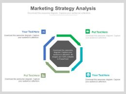 view Four Staged Marketing Strategy Analysis Flat Powerpoint Design
