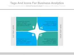 view Four Staged Tags And Icons For Business Analytics Flat Powerpoint Design