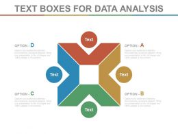 view Four Staged Text Boxes For Data Analysis Flat Powerpoint Design