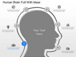 view Human Brain Full With Ideas Powerpoint Template